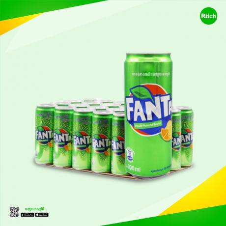Fanta Fruit Punch 330ml Sleek 24C