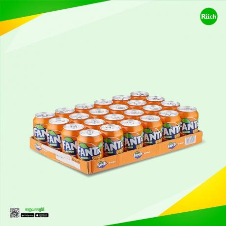 Fanta Orange 330ml Sleek 24C