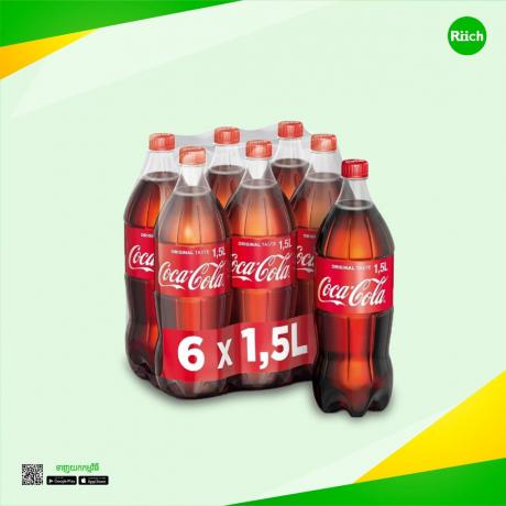 Plastic Bottle Coca-Cola 1.5 L (6 Bottles)