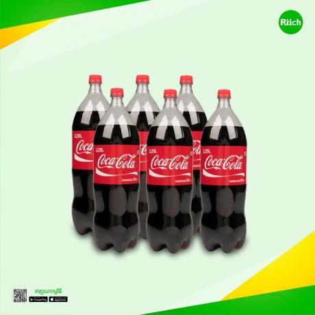 Plastic Bottle Coca- Cola 2.25 L (6 Bottles)