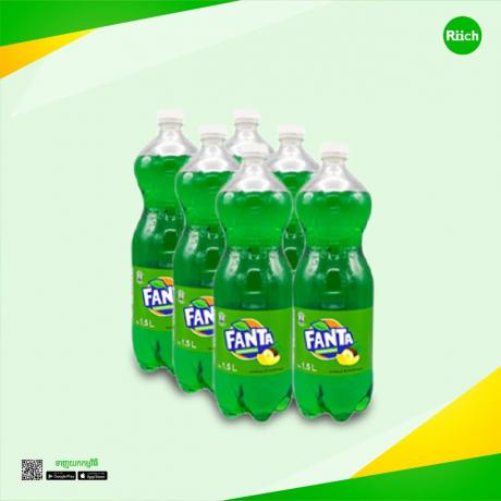 Plastic Bottle Fanta Fruit Punch 1.5 L 6Bottles