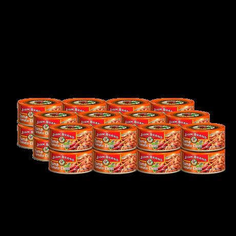ត្រីខកំប៉ុងធូនាទឹកប៉េងប៉ោះហឹរ Tomato Chilli tuna 24x160g