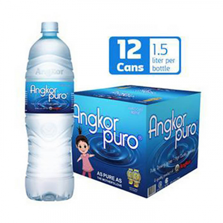 ទឹកបរិសុទ្ធអង្គរពូរ៉ូដបx12 Angkor Puro Water 1500ml