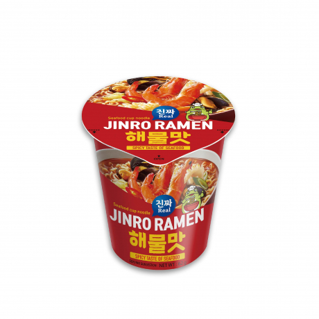 មី ជិនរ៉ូ រ៉ាមេន គ្រឿងសមុទ្រ Jinro Ramen Cup (Seafood)