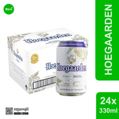 Hoegaarden White 330ML Can*24 (កំប៉ុង) - ស្រាបៀរថៃ១០០%