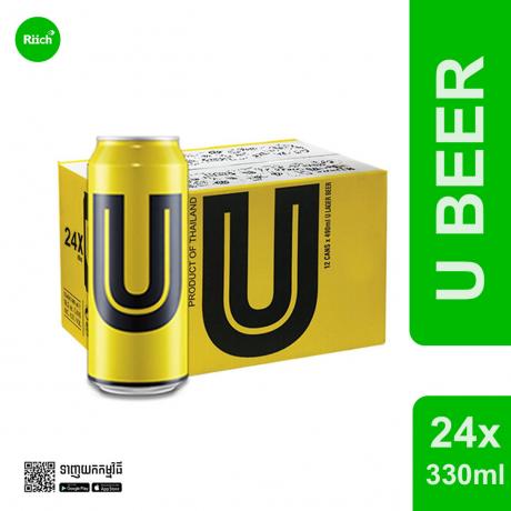 U Beer 330ML *24- ស្រាបៀរយូបៀរ*24 កំប៉ុង