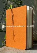 Explorer Notebook (Jute Handmade Orange Board Cover)