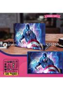 Captain America Design Laptop Sticker