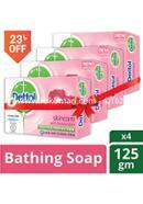 Dettol Skincare Bathing Bar Soap -125gm - Combo (4 Pcs)
