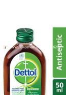 Dettol Antiseptic Disinfectant Liquid 50ml Glass Bottle