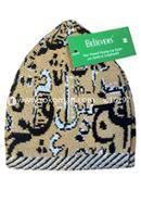 Believers'Muslim Prayer Cap Alif Ba Ta Design -01 Pcs (Green, Yellow and White Color)