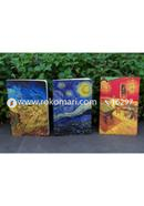 Van Gogh Series Starry Night, Night Cafe and Wheatfield with Crows Notebook 3-Pack