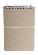 Memo Book White Double o Ring Notebook