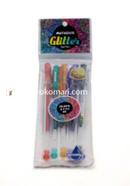 Matador Glitter Color Gel Pen - 1 Pack - 5 Pcs