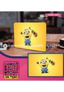 Single Minions Design Laptop Sticker
