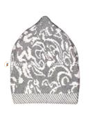 Believers'Muslim Prayer Cap Flower Design -01 Pcs (Sliver and White Color)