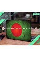 Bangladesh Flag Design Laptop Sticker
