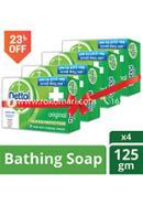 Dettol Original Bathing Bar Soap -125gm - Combo (4 Pcs)