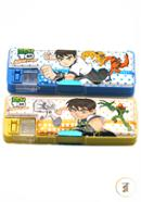 Ben 10 Pencil Box 313 with Pencil Cutter and Double Camber- 01 Pcs (Any  Color)