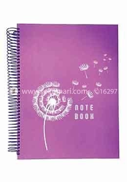 Hearts Panel Notebook Flower Design (Violet Color)