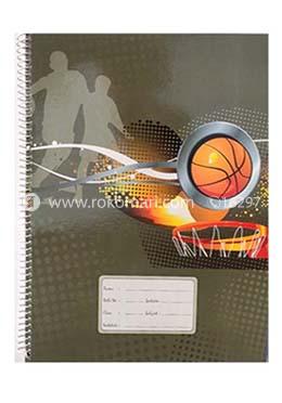 Floral Spiral Khata -300 Page (Basket Ball Design)