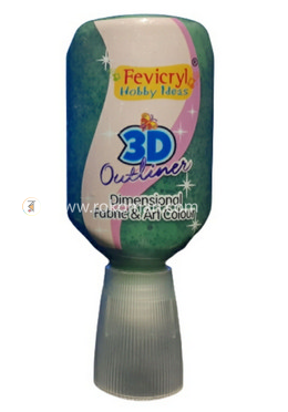 Fevicryl 3D Outliner (NP) Glitter Green - 20 ml