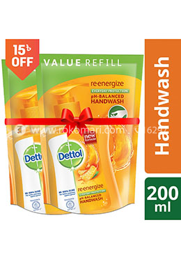 Dettol Handwash Re-energise Refill - 170ml - Combo (2 Pcs)
