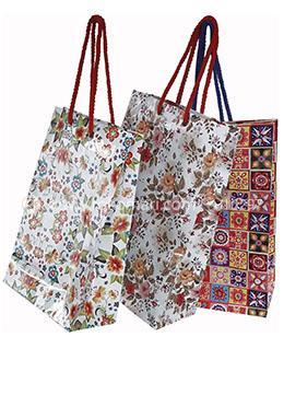 Hearts Design Gift Bag Big - 01 Pcs (Multi Color-Any Design)