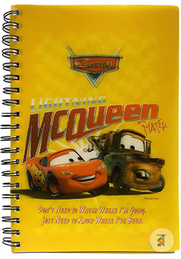 Lighting Mcqueen 3D printed notebook - 160 Pages