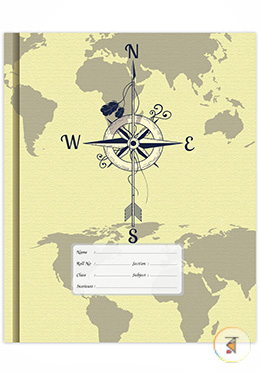 Floral Binding Khata - Compass Design (120 Page - White)