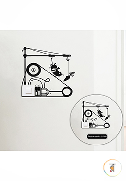 Hamster Treadmill Switch and Socket Vinyl Decals Removable High Quality Wall Sticker - (SS168)