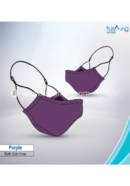 Turaag Protex PURPLE Face Mask For Men - 1 Pcs (Washable and reusable up to 25 times)