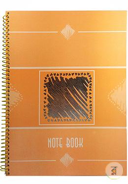 Foiled Notebook (Red Orange Color - Black Design)
