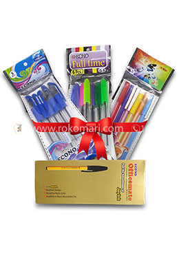 New Combo Package -  (Econo Ocean-5 Pcs, Full time-12 Pcs and Officemate-10 Pcs)