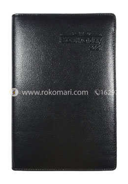 Heart's Executive DIARY - 2021 (Black Color - End Stitching Design)