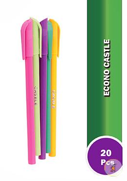 Castle Coler Pen (Multi color body) (Black - 20  Pcs)