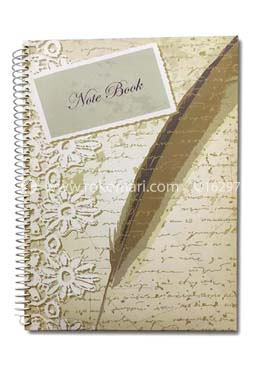 Hearts Essential Notebook - Feathers Design