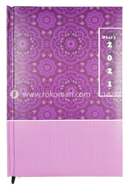 Heart's General DIARY - 2021 (Purple Color and Flower Design)