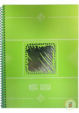 Foiled Notebook (Apple Green Color - Black Design)