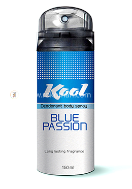 Kool Deodorant Body Spray (Blue Passion)-150 ml