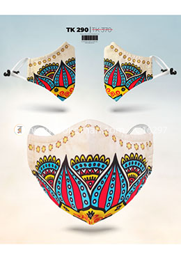 Fabrilife Premium 7 Layer Festiva Womens Designer Edition Mask