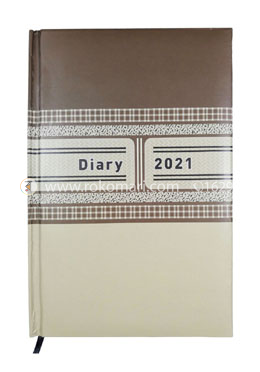 Heart's General DIARY - 2021 (Brown and Off White Color)