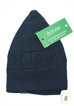 Believers'Muslim Prayer Cap Mos Design -01 Pcs (Navy Blue Color)
