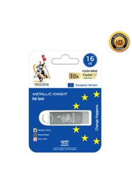 Teutons Metallic Knight Flash Drive USB 3.1 Gen-1 - 16 GB (Silver)