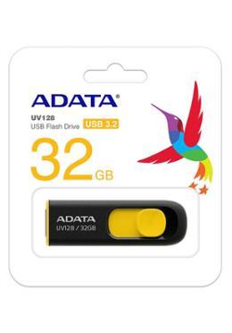 Adata UV 128 USB 3.2 BLACK YELLOW 32 GB