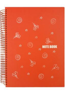 Panel Notebook (Red-Orange Color)
