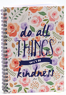 do all THINGS Note Book Floral (JCNB03) - 01 Pcs