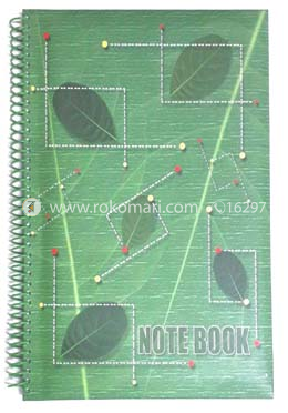 Hearts Essential Notebook - Green Leaf Design