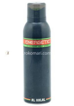 Al Halal Energetic Deodorant Body Spray - 200ml For Men