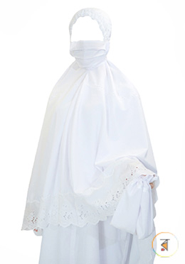 Ladies Ihram (3 Pcs Set - Hijab, Borka, Payjama)